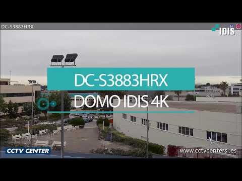 Domo IP PTZ 4K con zoom x31 IDIS DC-S3883HRX