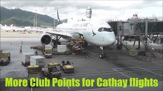 Cathay Pacific to award more Club Points for certain flights - Oct 2017