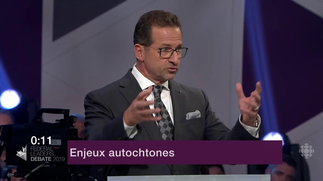 Yves-François Blanchet répond à la question sur la réconciliation avec les Autochtones