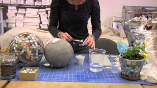 How to Use Thinset to Attach Mosaic Pieces to a Gazing Ball