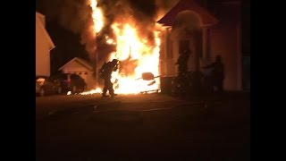preview picture of video 'Lawrence-Cedarhurst Fire Department, house fire, 499 Bayview Ave., 1/21/15'
