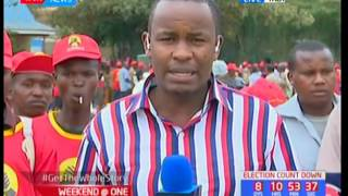 Jubilee flagbearer Uhuru Kenyatta joins DP William Ruto on a campaign tour of Tala