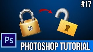 How To Lock & Unlock Layers EASILY! - Photoshop CS6 - Tutorial #17