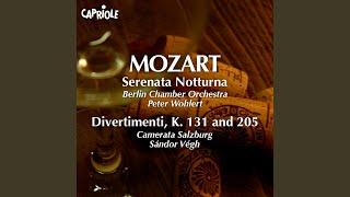 """Serenade No. 6 in D Major, K. 239, """"Serenata Notturna""""*: I. Marcia: Maestoso"""