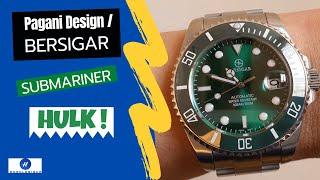 Bersigar (Pagani Design) Submariner Hulk unboxing & review