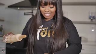 """Jekalyn Carr Makes One Of Her Favorite Holiday Desserts """"Butter Roll""""  (Southern Dish)"""