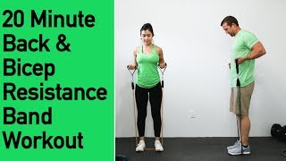 Back and Biceps Resistance Band Workout - 20 Minutes of Back Sculpting and Bicep Building by ACHV PEAK