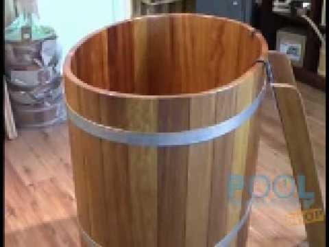 Sauna Tauchbecken aus Kambala-Holz 100 x 72 cm