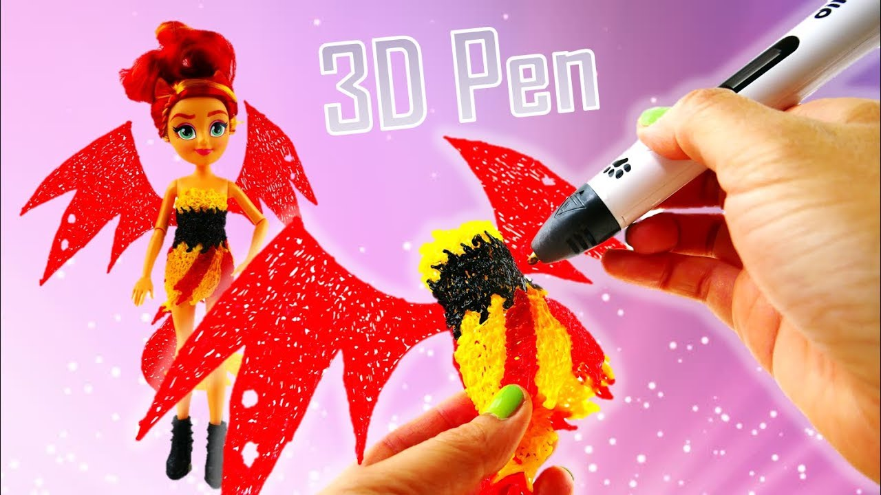 Custom DIY Evil Sunset Shimmer Transformation Custom Dress with Dikale 3D Pen for Kids