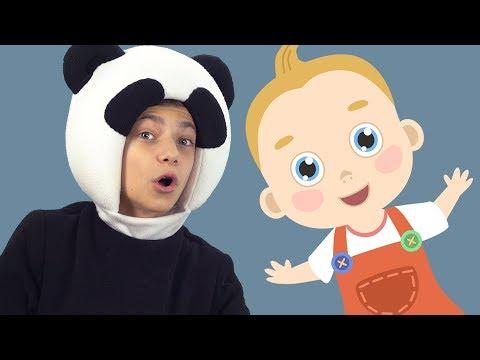 ТРИ МЕДВЕДЯ - Топ Топ  - Детская песенка про Малыша - Funny Kids Song Baby - топает малыш
