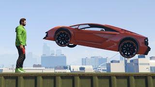 SURVIVE THE DEATH CAR RUN! (GTA 5 Funny Moments)