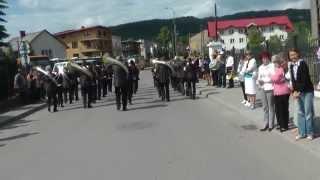 preview picture of video 'Orkiestra RYTM Zembrzyce 2012 - przemarsz Zembrzyce'