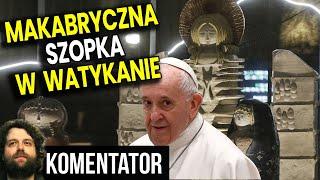 Watykan Szopka 2020 – Kosmita, Bóg Anunnaki i Demoniczny Anioł Witają Jezusa! Analiza Komentator UFO