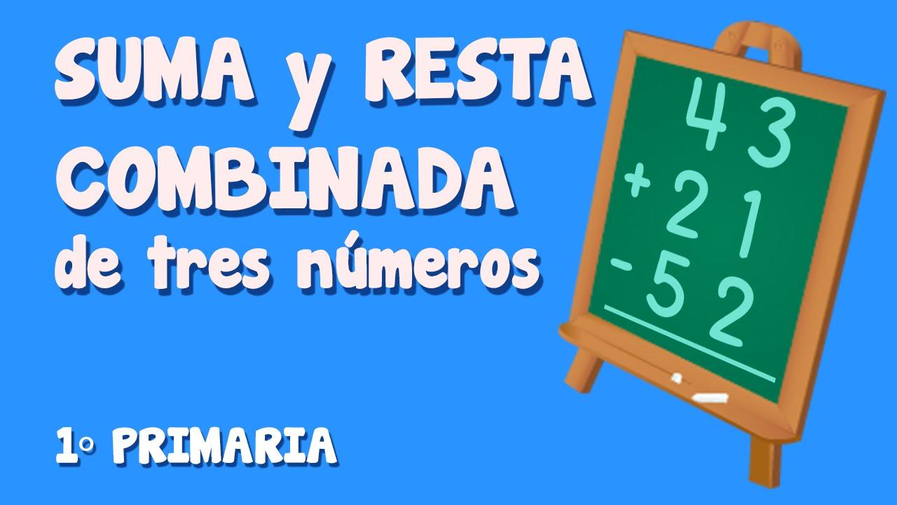 Sumas y restas combinadas de tres números para niños de Primaria (3/3)