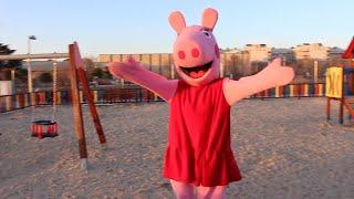 peppa pig en el parque con la paw patrol / varios videos