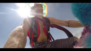 DUDE GETS WORKED by an ART CAR at Burning MAN 2014!