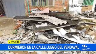 HABITANTES DE LA BENDICIÓN DURMIERON EN LA CALLE LUEGO DE VENDAVAL