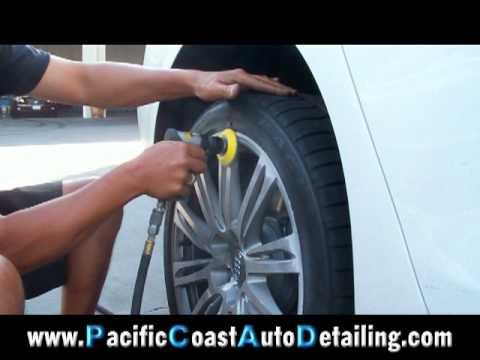 Scraped Audi A8 Polished Rim