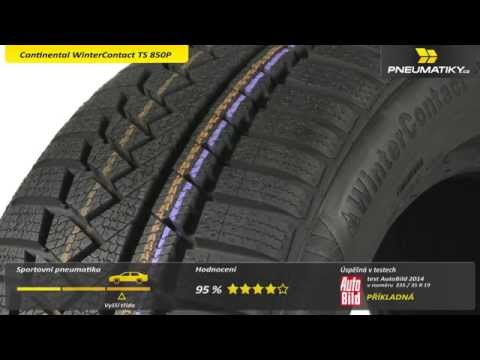 Youtube Continental WinterContact TS 850P 225/45 R18 95 V XL FR Zimní