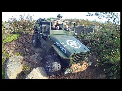 Sgt Slaughter on patrol in his JJRC Q65 Willys Jeep