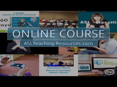 ASL Online 5 week Course- Learn Sign Language @ home - YouTube