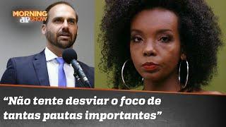 Thelma tem razão? Vencedora do BBB rebate Eduardo Bolsonaro após quebrar isolamento