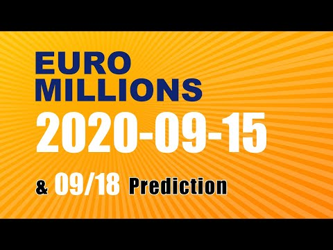 Winning numbers prediction for 2020-09-18|Euro Millions