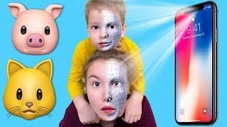 Света и Богдан хотят МОДНЫЙ ТЕЛЕФОН Super Babies Анимоджи на новом iPhone X