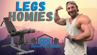 HOW TO HIT LEG REPS & Body-Solid GLCE365 Seated Leg Extension & Leg Curl Review and Demo -GARAGE GYM
