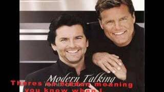 Модерн Толкинг, Modern Talking - Words Dont Come Easy