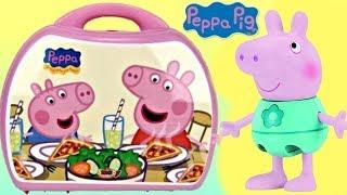 Nick Jr. PEPPA PIG Mini Pizzeria Play Set Carry Case, George Pizza, Shopkins Food Fair Toy / TUYC