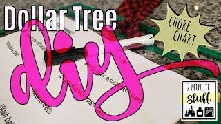 Dollar Tree DIY || Chore Chart || Perfect For Kids!