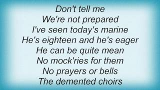 10000 Maniacs - Anthem For Doomed Youth Lyrics
