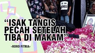 Tiba di TPU Kabupaten Sleman, Tangis Roro Fitria Pecah di Pusara Sang Bunda