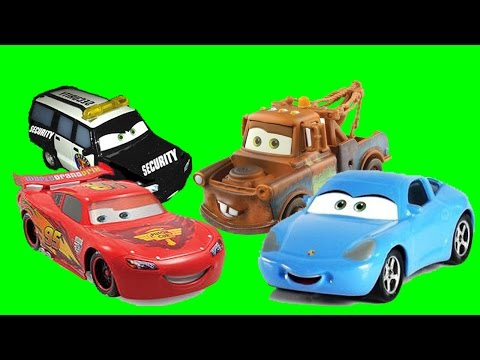 Disney Pixar Cars Sally's AMAZING Rescue, Lightning McQueen, Tow Mater, Sally Carrera Toys Movie