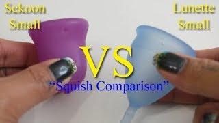 "Sckoon vs Lunette Sm ""Squish"" - Menstrual Cups"