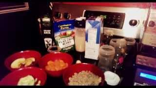 Our Blendtec blender and blending foods for g-tube feedings.