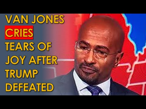 Van Jones Crying TEARS OF JOY Reacting to CNN Calling Election for Joe Biden