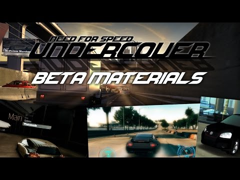 Need For Speed Undercover - Beta materials