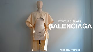 【Pattern Making / Draping/ Sewing】 Balenciaga | Study Of Couture Shape Part 3  【ドレスメーカー暮らしの日常 Vlog】