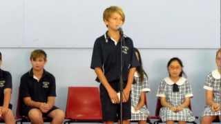 Elijah's School Captain speech