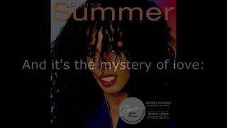 "Donna Summer - Mystery of Love LYRICS SHM ""Donna Summer"" 1982"