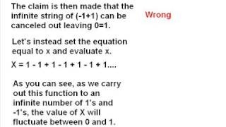 Re: Proof of one equals zero what is wrong?