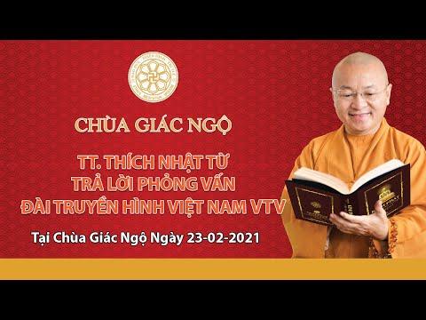 TT. Nhật Từ trả lời phỏng vấn của Đài Truyền hình Việt Nam VTV1