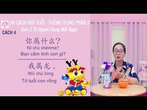 10 cách hỏi tuổi trong tiếng Trung hiện nay