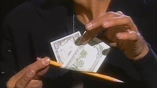 Дэвид Копперфильд - Фокус с купюрой и карандашом