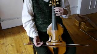 Left hand: position on the treble viol with Alison Crum