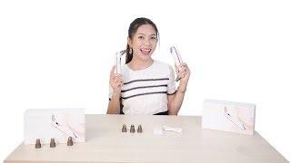 Video review máy hút mụn mini 4 đầu kết hợp đầu massage nóng lạnh SLL-21 - làm sạch da mặt hiệu quả