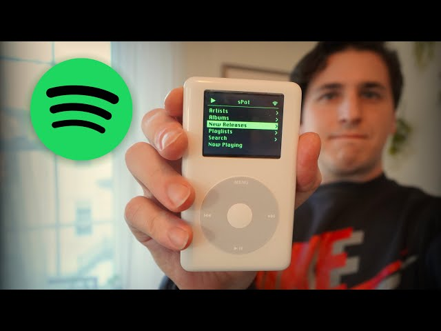 Блогер-умелец проапгрейдил iPod Classic для прослушивания Spotify