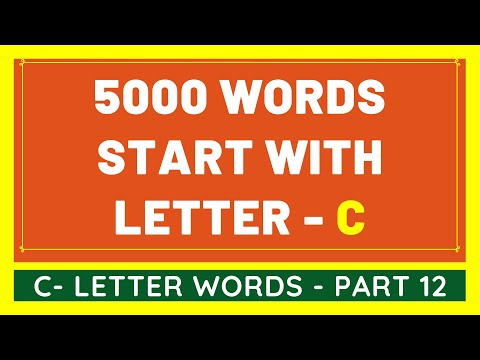 5000 Words That Start With C #12 | List of 5000 Words Beginning With C Letter [VIDEO]